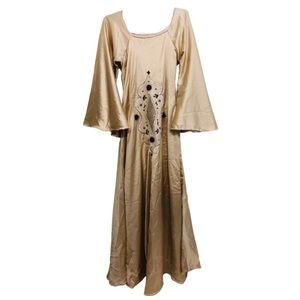 Vintage Embroidery Prairie Hippie BellSleeve Dress